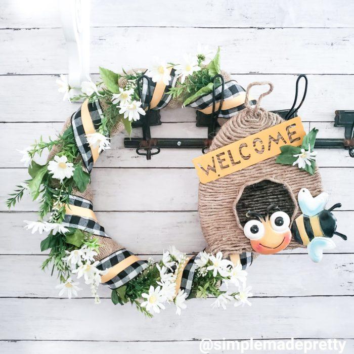 Bee Hive Wreath