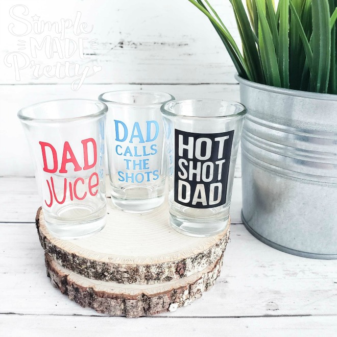 Today I'm sharing 5 DIY Father's Day Cricut Gift Ideas From The Dollar Store. These Father's Day gift ideas are easy to DIY using Dollar Store supplies and a little help with a Cricut machine. I love making personalized Father's Day gifts and this year I came up with several DIY Father's Day gift ideas. These Father's Day Cricut projects are easy enough for a Cricut beginner to make using simple materials.