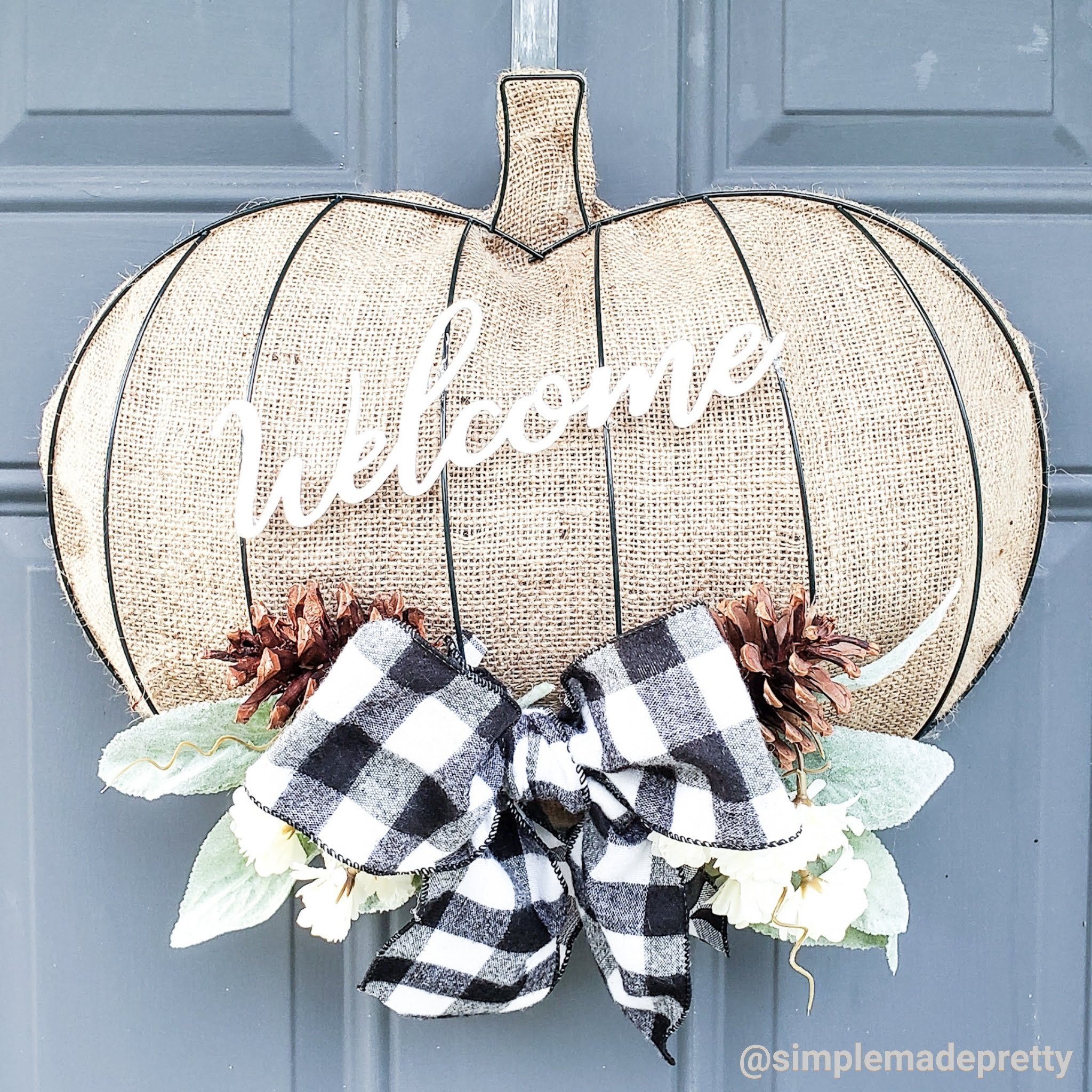 Pumpkin Wreath Dollar Tree Diy Simple Made Pretty 2021