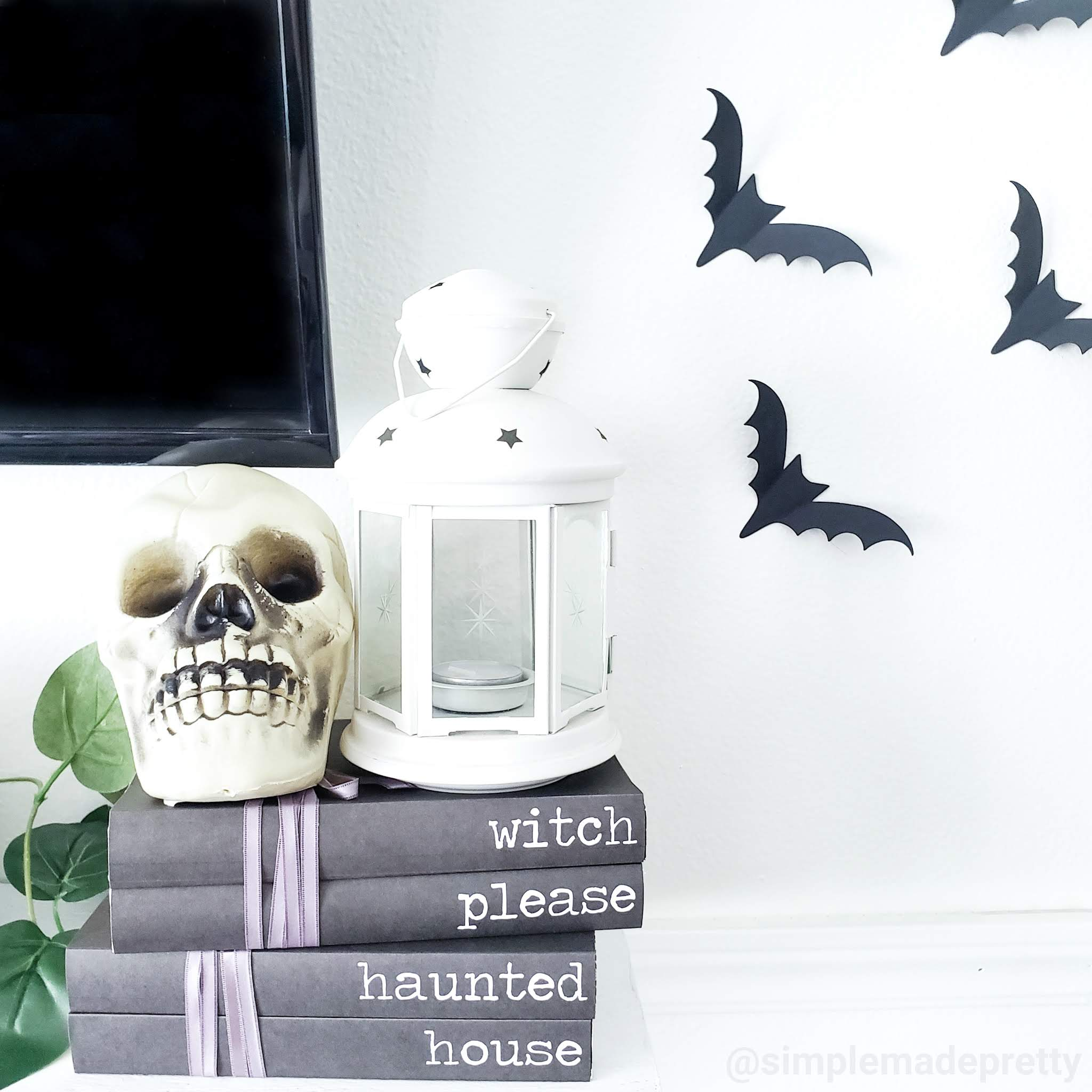 Free Printable Halloween Stamped Book Covers