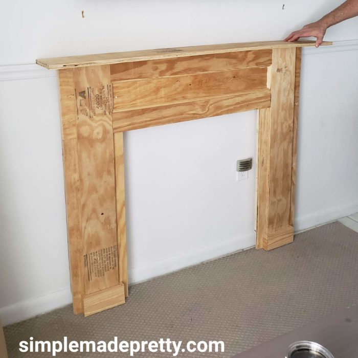 How To Build A Faux Fireplace Simple