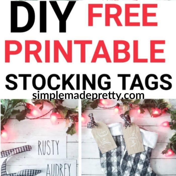 wood Christmas stocking tags DIY