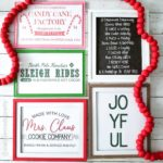 Free Printable Copycat Target Christmas Signs