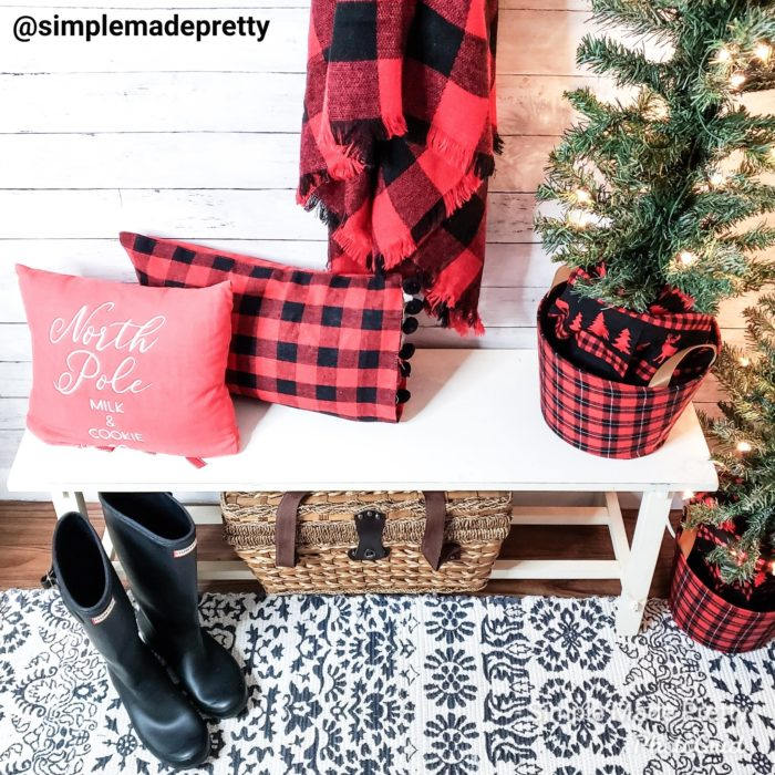 Christmas Bench decor