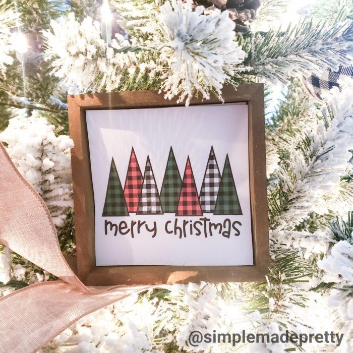 Printable Christmas farmhouse signs