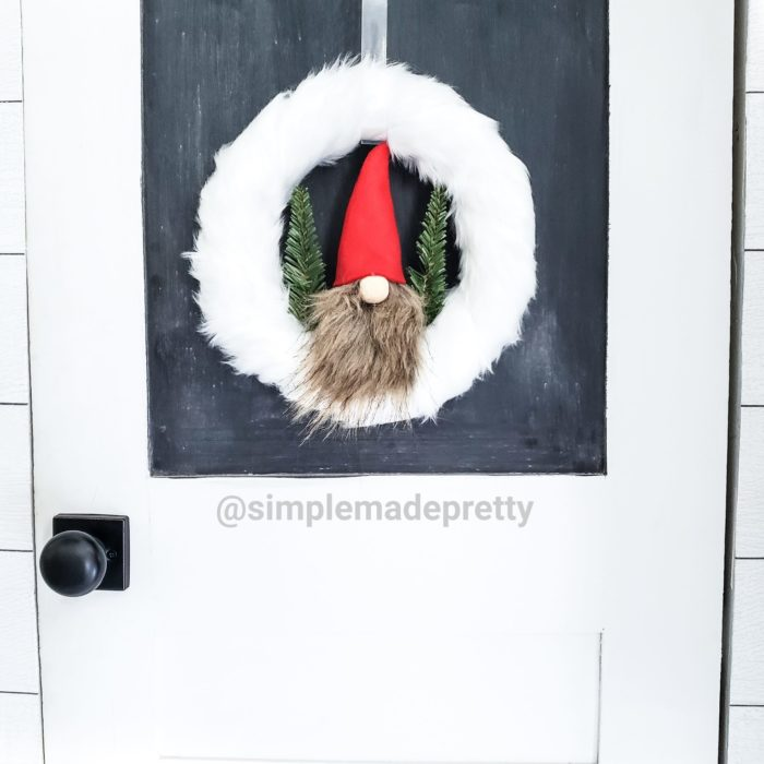 gnome wreath Christmas