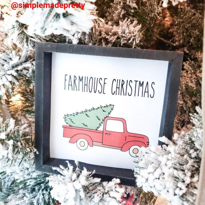 Christmas Farmhouse Signs printable