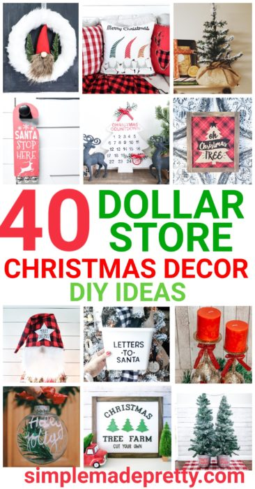 Dollar Store Christmas Decor DIY