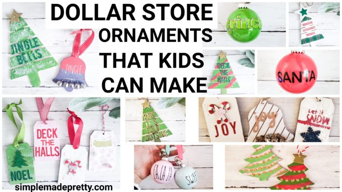 Dollar Store Christmas ornaments