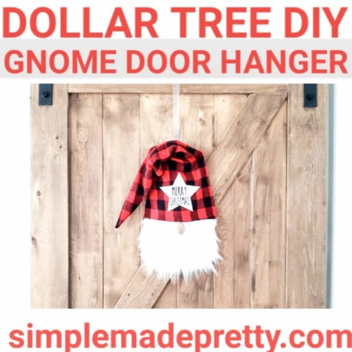 gnome door hanger gnome tree topper