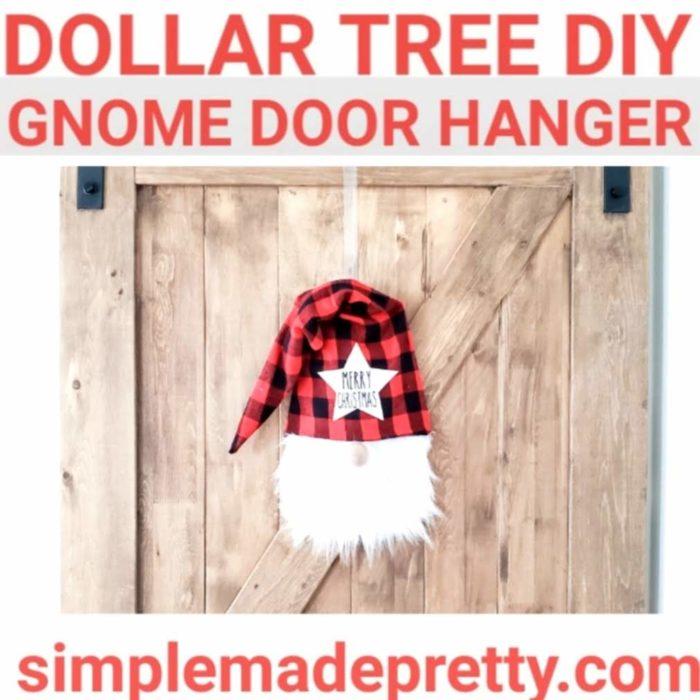 gnome door hanger gnome tree topper
