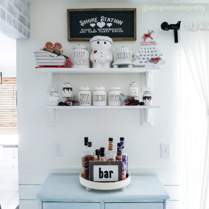 Hot cocoa bar Christmas decor