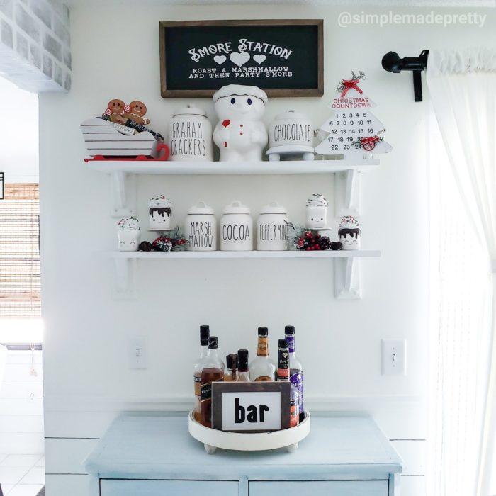 Hot cocoa bar Christmas decor