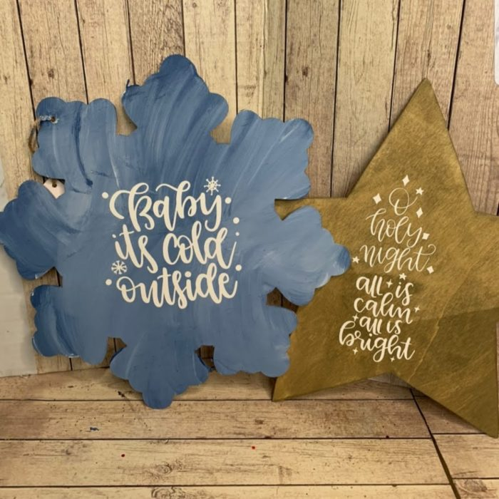 DIY Dollar Tree Christmas Signs