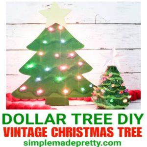 vintage Christmas Tree DIY