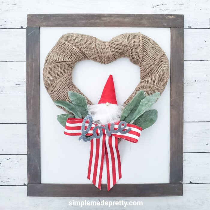 Dollar Tree DIY Gnome heart wreath