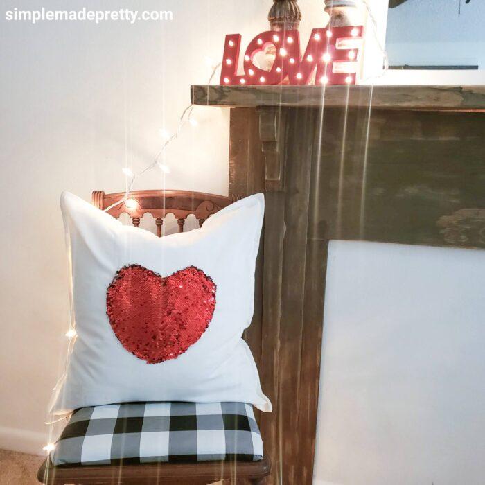 Dollar Tree DIY Heart Pillow