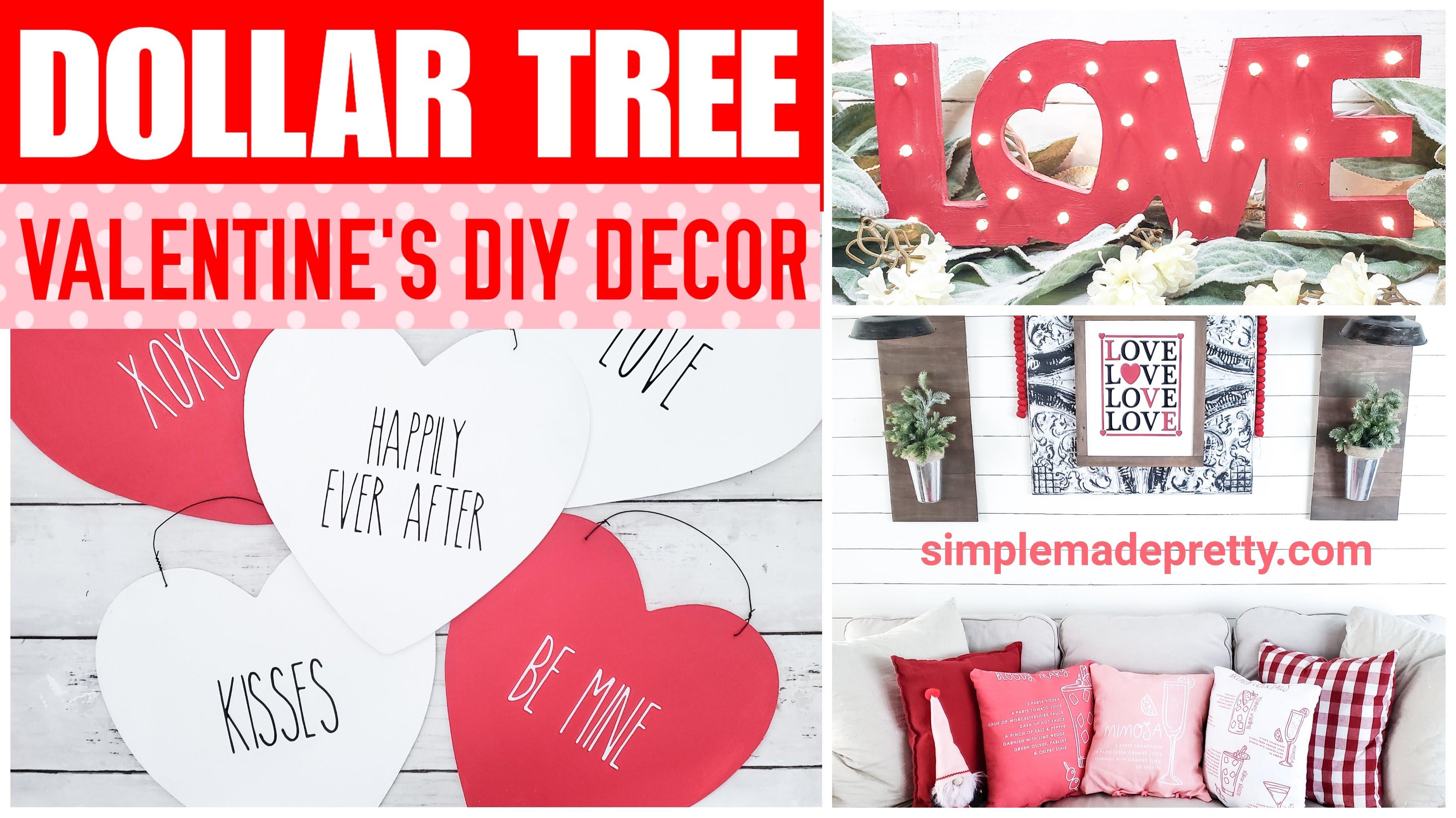 10 Valentine S Day Dollar Tree Diy Decor Simple Made Pretty 2021