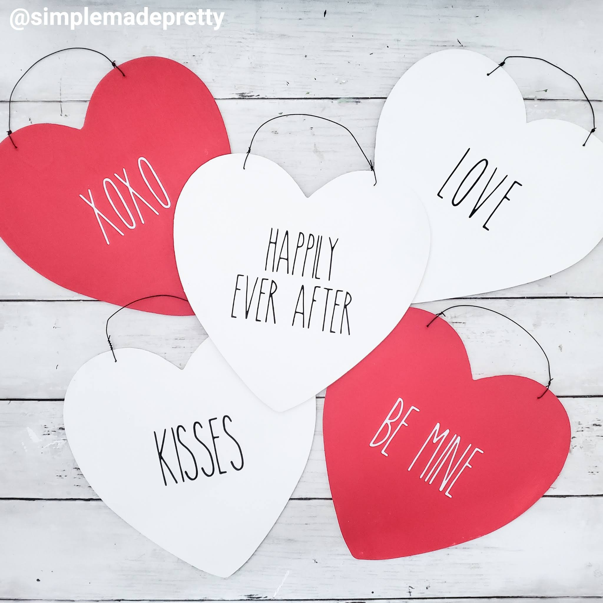 Rae Dunn Valentine's Day Signs