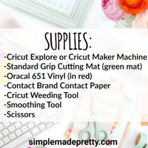 cricut decal supplies