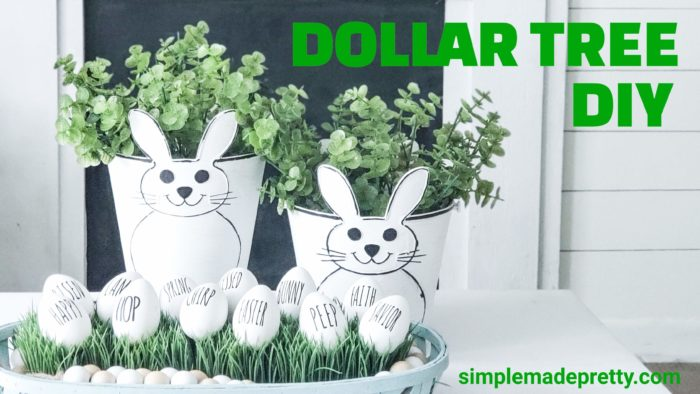 Dollar Tree Easter Decor DIY