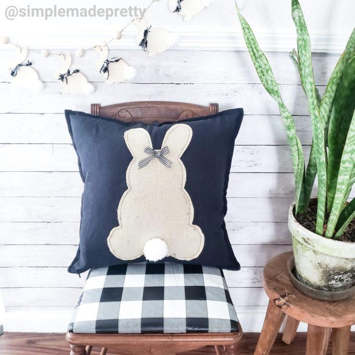 Burlap Bunny Pillow Dollar Tree DIY