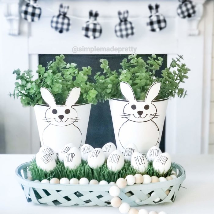 Dollar Tree Easter Buckets