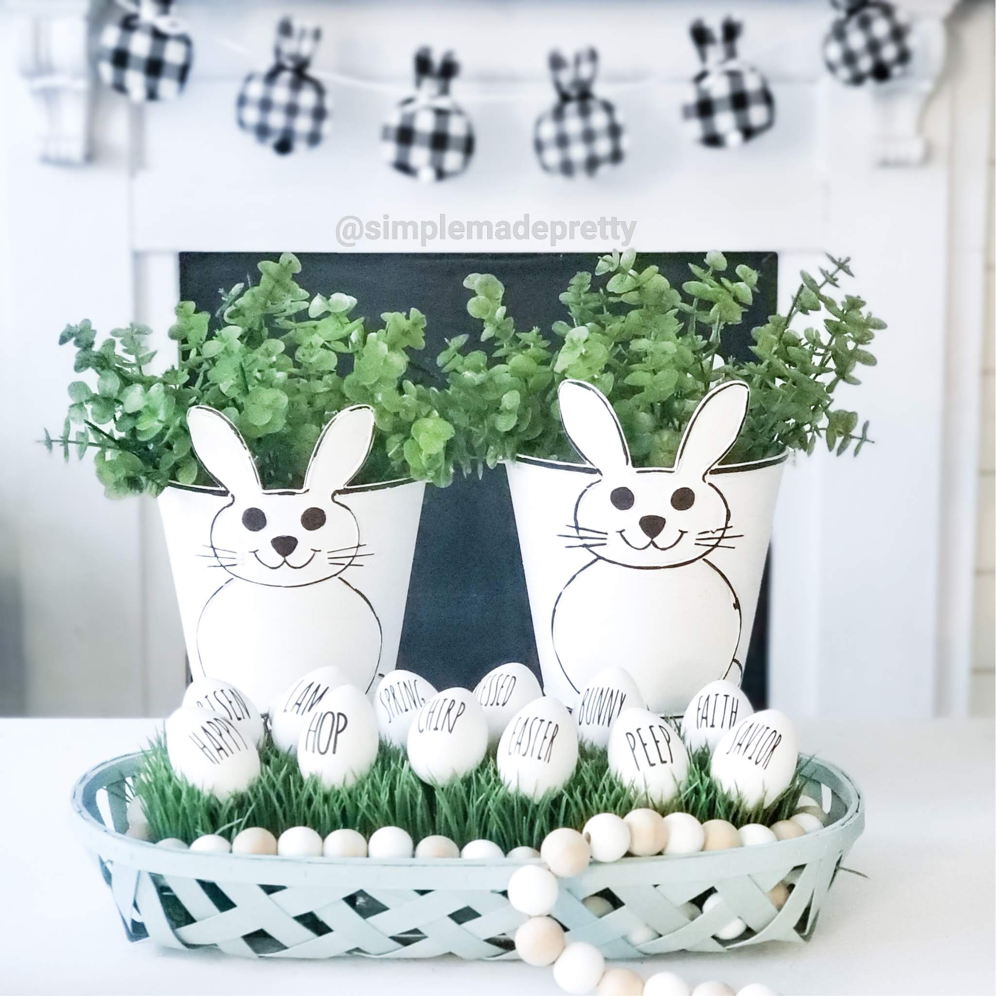 Dollar Tree Easter Buckets