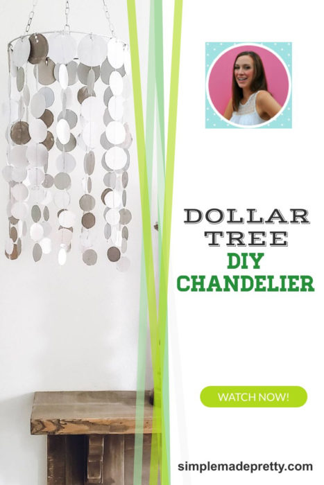 Dollar Tree DIY Chandelier