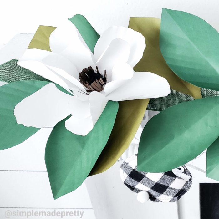 Dollar Tree Magnolia Garland DIY