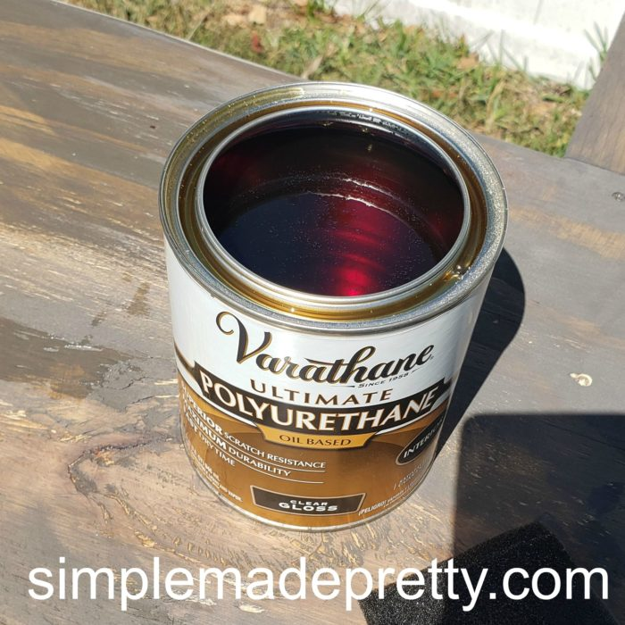 Wood stain poly