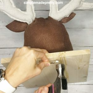 DIY stuffed deer head free SVG