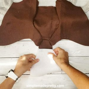 Deer head DIY sewing