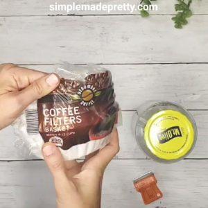 coffee filter wipes DIY