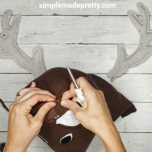 deer head decor DIY