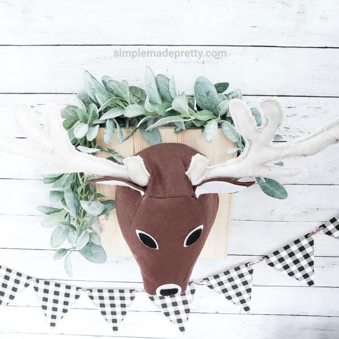 how to make a stuffed deer head