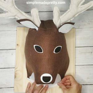 plush deer head wall mount