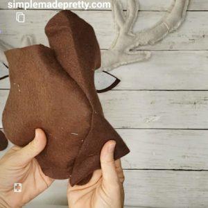 stuffed deer head wall