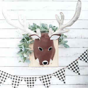 stuffed deer head wall mount