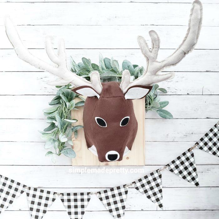 stuffed deer head wall mount