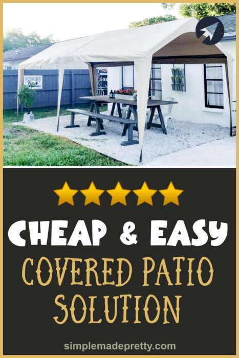 Cheap Easy Covered Patio Solution