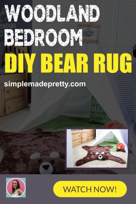 Woodland Bedroom DIY Bear Run pin