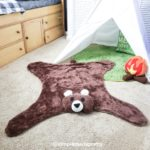 DIY Faux Bear Rug