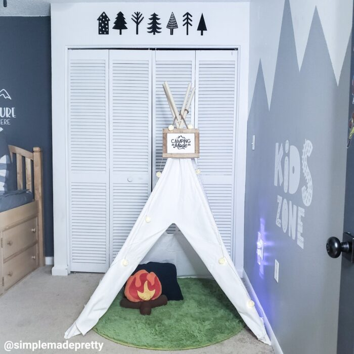 Camping themed bedroom decorations