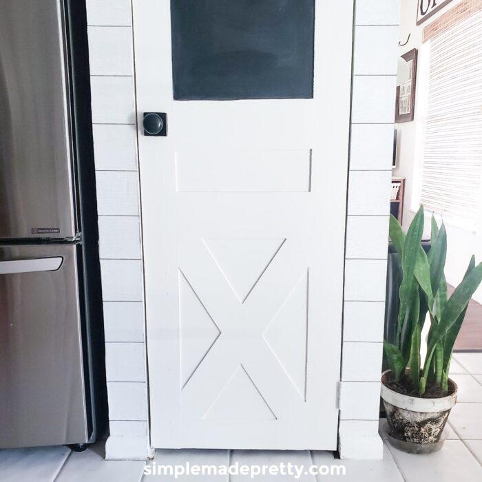 DIY barn door from bifold door