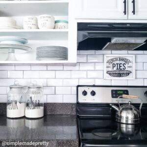 Dollar Tree Subway Tiles Kitchen Backsplash