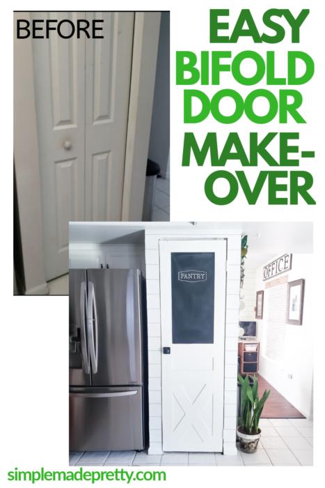 Easy Bifold Door Makeover