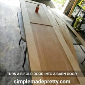 How to turn a bifold door into a barn door