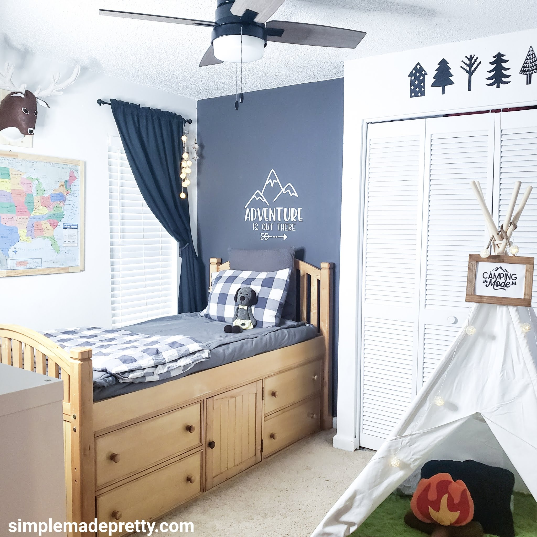 Woodland themed boy room decorations
