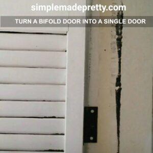 bifold door into a single door diy